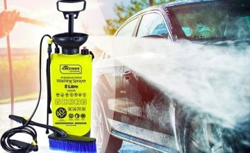 Your patio ain't going to know what hit it when you equip yourself with an eight litre high pressure sprayer and washer!