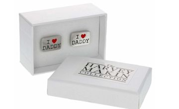 £7 instead of £14.99 (from Dream Price Direct) for a pair of Harvey Makin 'I Pair of Harvey Makin 'I ♥ Daddy' cufflinks Daddy' cufflinks - save 53%