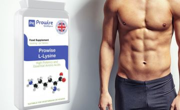 £8.99 instead of £34.99 (from Prowise) for a three month supply* of Prowise L-Lysine tablets - save 74%