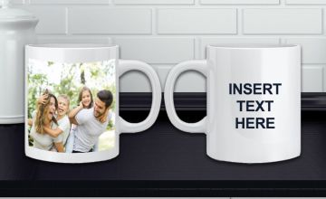 £4.99 instead of £14.99 for a personalised photo and text mug from Fab Deco Ltd - Deco Matters - save 67%