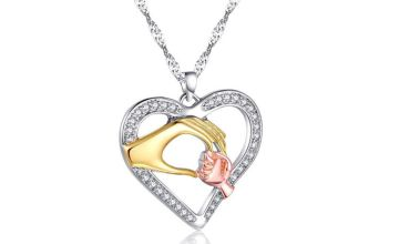 £7.99 instead of £79 (from Your Ideal Gift) for a mother and child hand pendant with crystals from Swarovski ® - save 90%