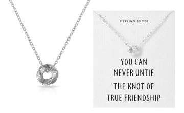 £8.99 instead of £23.99 for a sterling silver friendship knot necklace from Silver Supermarket Ltd - save 63%