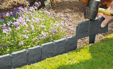 Spruce up your yard with a pack of 10 stone-effect garden edging cobbles - save 77%