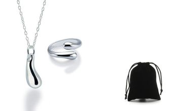 £6.99 instead of £79 for a teardrop necklace and open ring set from Genova International Ltd - save 91%