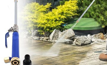 Clean your patio like never before with a high-pressure power washer hose attachment!