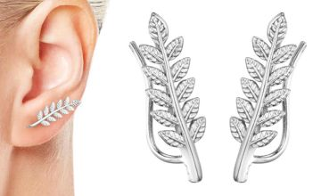 £3.99 instead of £11.99 for a phillip jones leaf climber earrings - choose from two colours from Silver Supermarket Ltd - save 67%