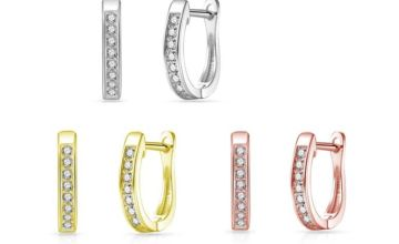 £5.99 instead of £15.99 for a pair of Philip Jones channel set hoops made with crystals from Swarovski from Silver Supermarket Ltd - save 63%