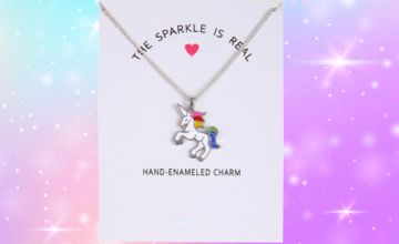£3.99 instead of £29 for a unicorn sparkle rainbow necklace from Solo Act Ltd - save 86%