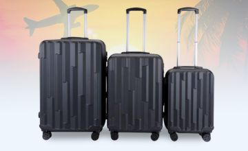 £79.99 instead of £491 (from MC California USA) for a Lohani four-wheel luggage set –choose from three colours and save 84%