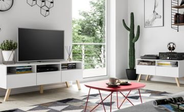 £89 instead of £349 (from Selsey) for a 100cm wooden TV unit, or £119 for a 150cm TV unit - save up to 74%