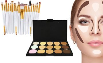 Time to brush up on your cosmetics with our dela for a 35-piece contour makeup palette and brush set!