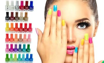 £19 instead of £79.99 for 36 high maintenance nail polishes from Forever Cosmetics - save 76%
