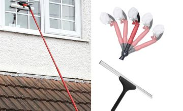 £7.99 instead of £29.99 for a 10ft telescopic window cleaner from Vivo Technologies - save 73%