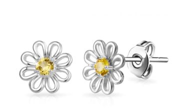£4.99 instead of £13.99 for a pair of daisy earrings made with crystals from Swarovski ® - save 64%
