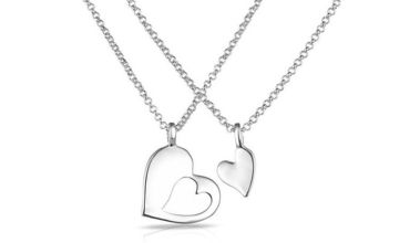£8.99 instead of £19.99 for a Philip Jones 'Piece of my Heart' necklace from Silver Supermarket Ltd - save 55%