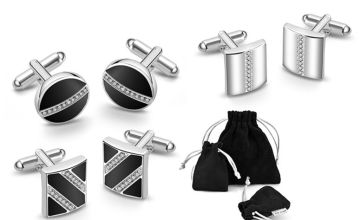 £6.99 instead of £19.99 for a pair of Philip Jones silver-plated cufflinks from Silver Supermarket Ltd - save 76%