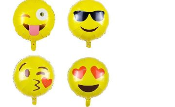 £1.99 instead of £7.99 for an emoji balloon - choose from four designs from London Exchain Store - save 75%