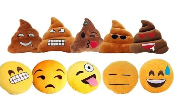 £6 instead of £14.99 for an emoji cushion - choose from 10 designs from London Exchain Store - save 60%
