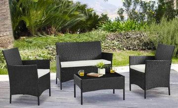 £99 instead of £470 (from UK Furniture Zone) for a four-piece rattan garden furniture set, £109 for a set with a cover- save up to 79%