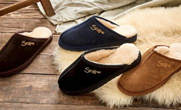 £25 (from Snow Paw) for a pair of men's sheepskin slippers - choose from four colours