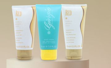 £2.49 for a 75ml Giorgio body wash, £3.98 for a 75ml Giorgio Red body lotion or shower gel