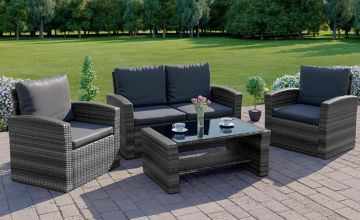 £259 (from Abreo) for a four-piece Algarve rattan sofa set with a rain cover - choose from eight colour options!