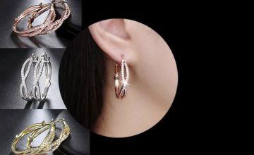 £9.99 instead of £59 for infinity hoop crystal earrings from Genova International Ltd - save 83%
