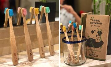 £5.99 (from Onco) for a pack of four bamboo children's toothbrushes!