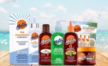 £14.99 instead of £30.94 (from Malibu Sun) for a Malibu Sun body tanning collection- save 51%