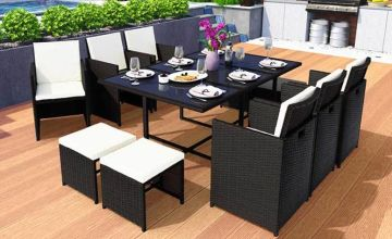 £449 instead of £1299.99 (from Eve Motion) for a 10-seater durable rattan garden furniture set or a 12-seat set for £569 - save up to 65%