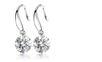 £7.49 instead of £39 for a crystal drop round earrings from Genova International Ltd - save 81%