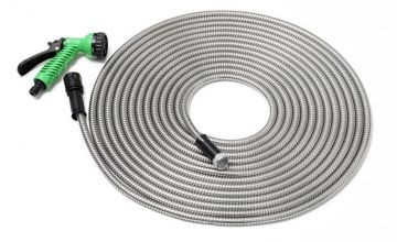 "£16.99 instead of £49.99 for a 50ft 'smart steel' garden hose with 7"" nozzle from Direct2Public Ltd - save 66%"