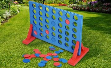 £8.99 instead of £29.99 for a giant outdoor foam connect four game from Direct2Public Ltd - save 67%