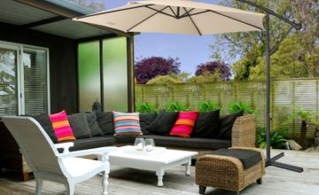 £36.99 instead of £149.99 (from Direct2Publik) for a three-metre garden banana parasol - save 75%