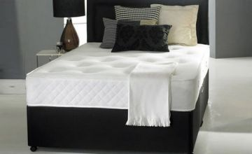From £69 (from Dining Tables) for a single Radley divan bed set including headboard and orthopaedic memory foam mattress - choose from five sizes, upgrade to include two or four drawers and save up to 83%