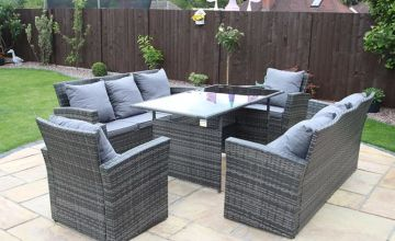 From £499 instead of £970 (from Dreams Outdoors) for a Rosen polyrattan furniture set with an optional rain cover - choose from two sizes and three colours and save up to 49%