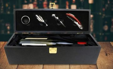 £16.99 instead of £49.97 (from Who Needs Shops) for a wine bottle gift box and accessory set - save 66%