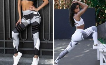 £7.99 instead of £29.99 (from hey4beauty) for a pair of block print leggings – choose from two colours and save 73%