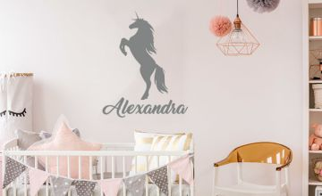 £5.50 instead of £19.99 (from Deco Matters) for a personalised name wall sticker - save 72%