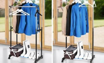 £6.99 instead of £29.99 (from Fusion Online) for an adjustable clothes rack, or £11 for a double rack - save up to 77%