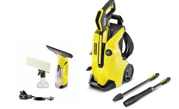 £39.98 (from Trojan Electronics) for a refurbished Karcher WV2 Plus window vacuum cleaner, or £159.98 for a refurbished K4 Full Control pressure washer