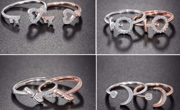 £11.99 instead of £49 for crystal open design rings from Genova International Ltd - save 76%