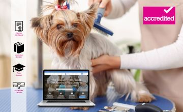 £16 for an online dog grooming diploma from Harley Oxford - save 92%