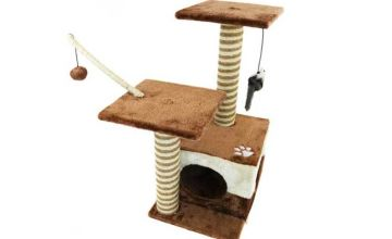 £21.99 instead of £83.30 (from Who Needs Shops) for a cat scratching post and activity centre - save 74%