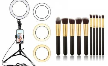 £10 instead of £30.99 (from WowWhatWho) for a ring light and 10pc makeup brush set, or £16.99 for a ring light, small tripod and brush set, or £19.99 for a ring light, large tripod and brush set – save up to 68%