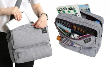 £6.99 instead of £29.99 (from WowWhatWho) for a multi-compartment travel bag – choose from six colours and save 77%