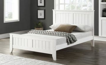 From £159 instead of £1170 (from The Furniture Department) for a Windsor white wooden bed frame, or £249 for a bed frame and mattress - choose from two sizes and save up to 86%