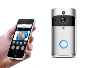 £29.99 instead of £135 (from Wow What Who) for a WiFi security doorbell - choose from black and silver and save 78%
