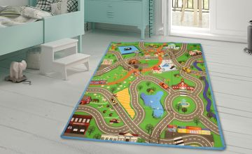 £9.99 instead of £27 (from Eurotrade LTD) for a giant kids' play mat with four toy cars - save 63%