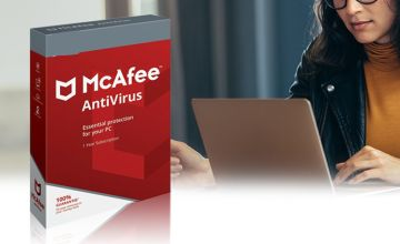 £12 (from TechyTeam) for a one-year McAfee anti-virus subscription for five devices